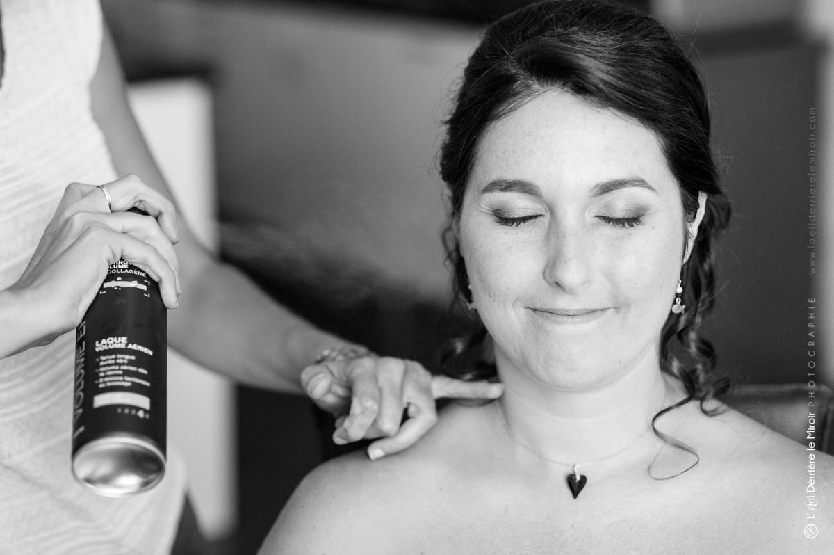 Coiffure de mariage par Sabine beauté.