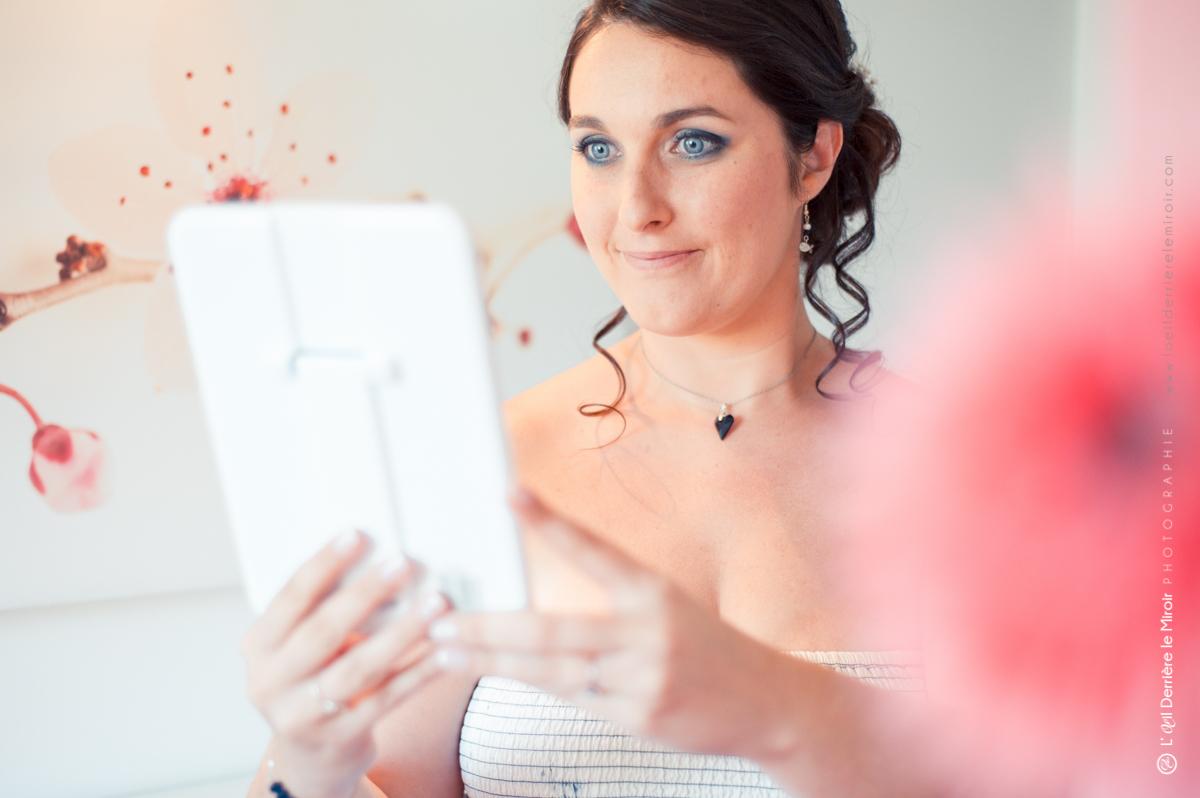Coiffure et maquillage de mariage par Sabine beauté.