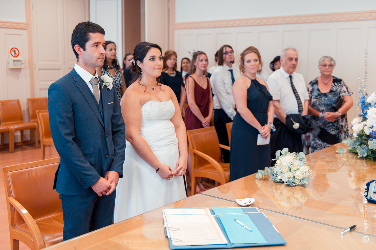 Mariage à la mairie d'Antibes.