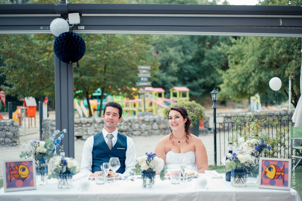 Mariage, table d'honneur à deux.