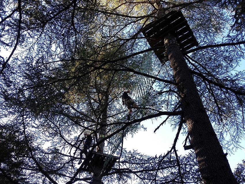 Découverte de l'accrobranche dans le parc aventure Nature Aoubré.