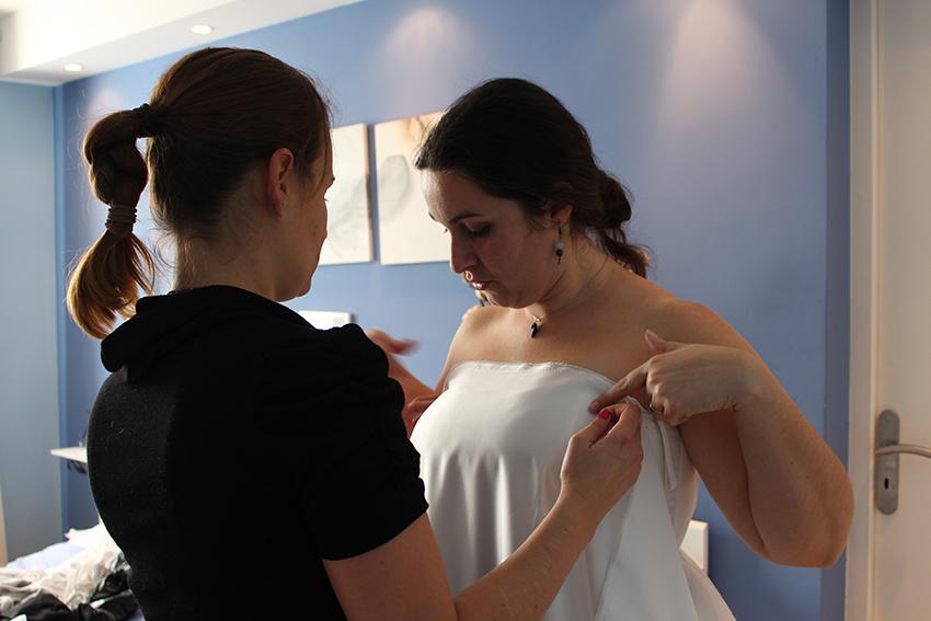Trait d'union création de ma robe de mariée sur mesure.