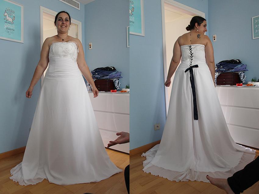 Trait d'union création, robe de mariée sur mesure.