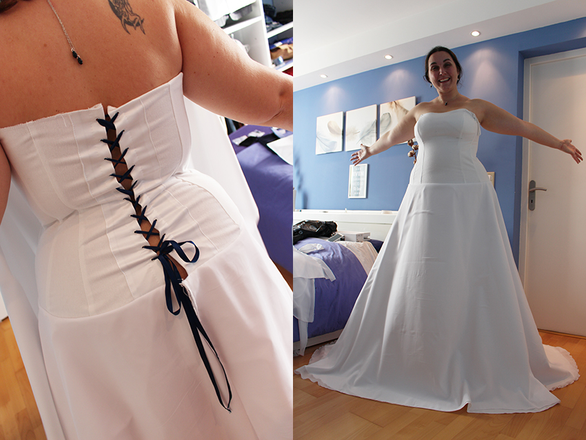 Trait d'union création, robe de mariée sur mesure : ma robe au début.