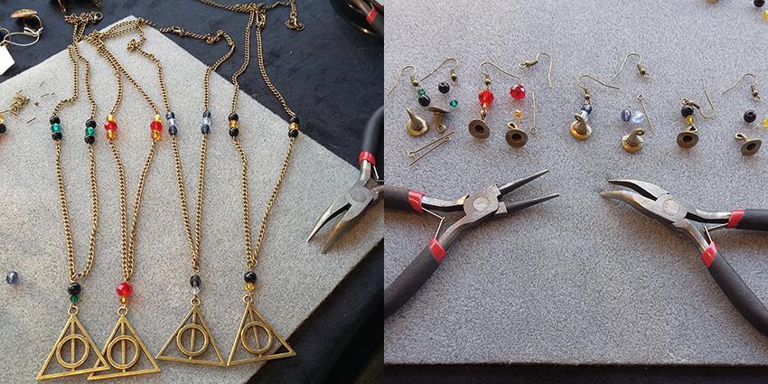 Tranches de bonheur : création de bijoux sur Harry Potter.