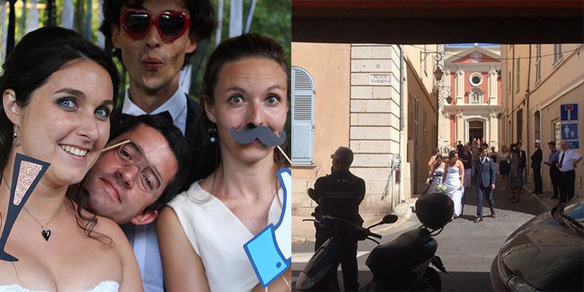 Tranches de bonheur : notre mariage, et stand photobooth.
