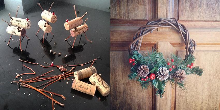 Tranches de bonheur : préparation des décorations de Noël.