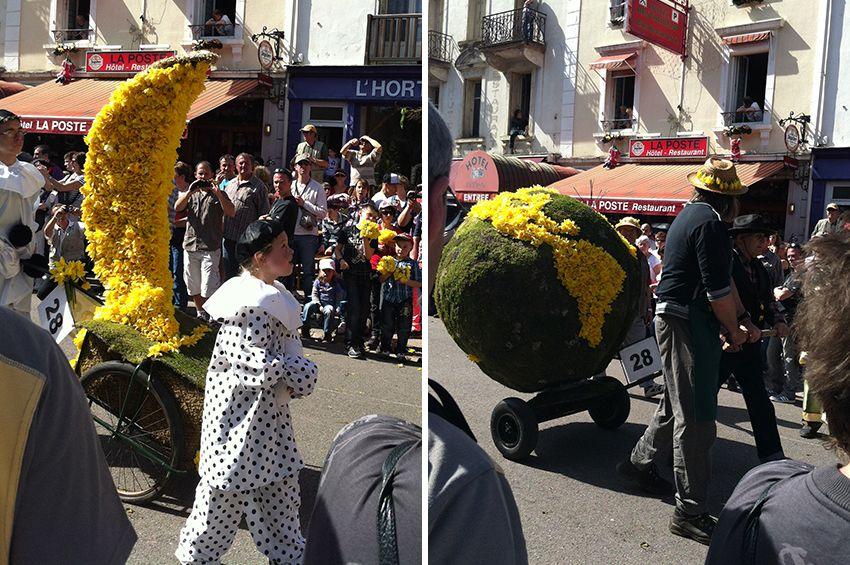 Chars monde et pierrot la Lune de la fête de la Jonquille à Gérardmer en 2013.