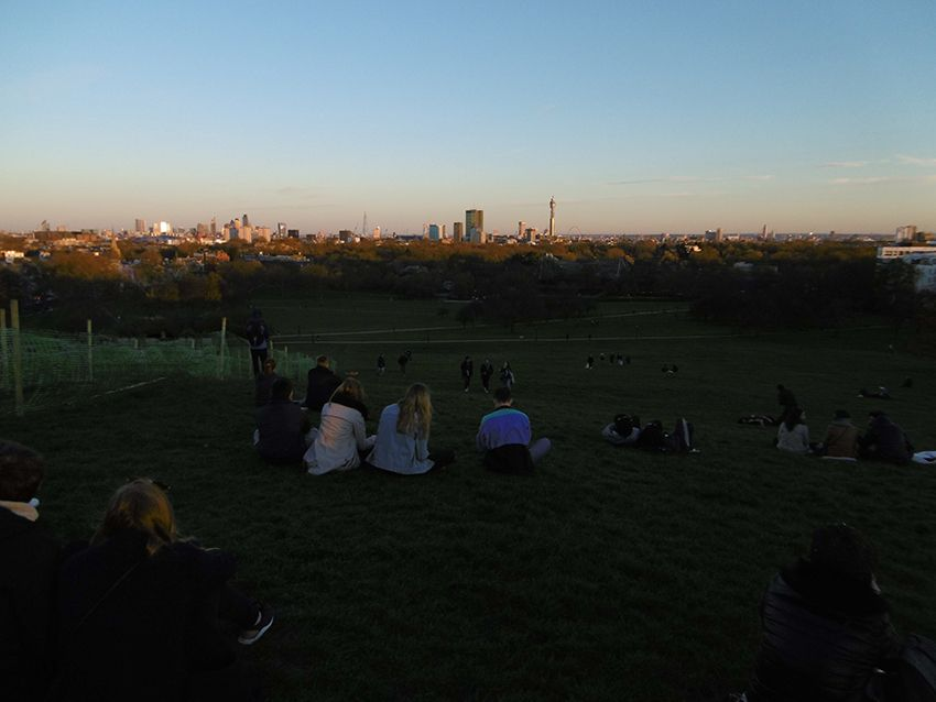 Skyline de Londres depuis le parc de Primrose Hill.