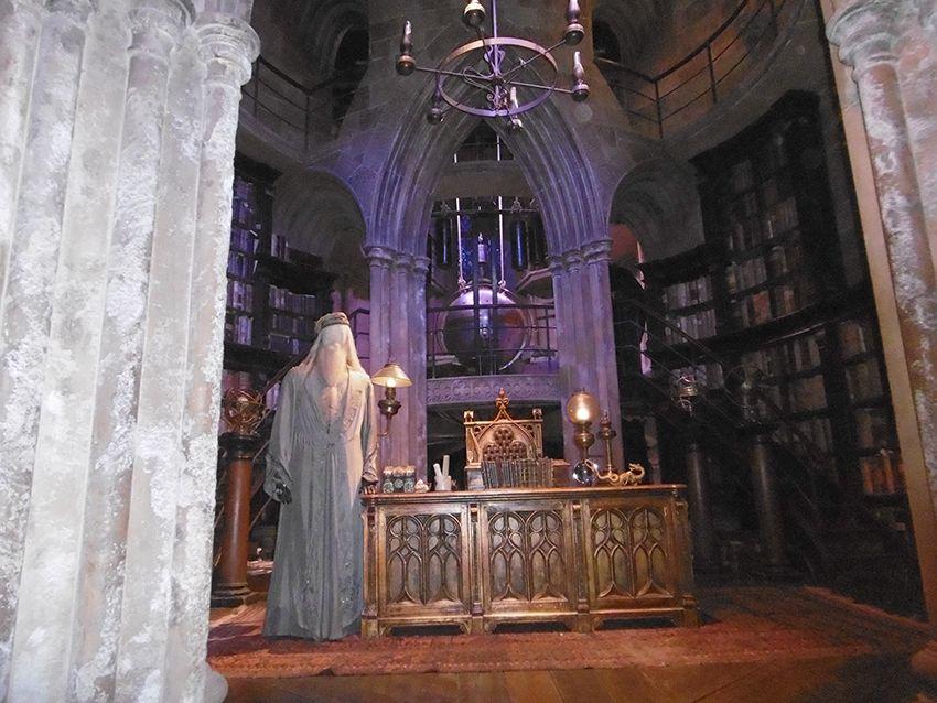 Bureau d'Albus Dumbledor dans le studio Harry Potter à Londres
