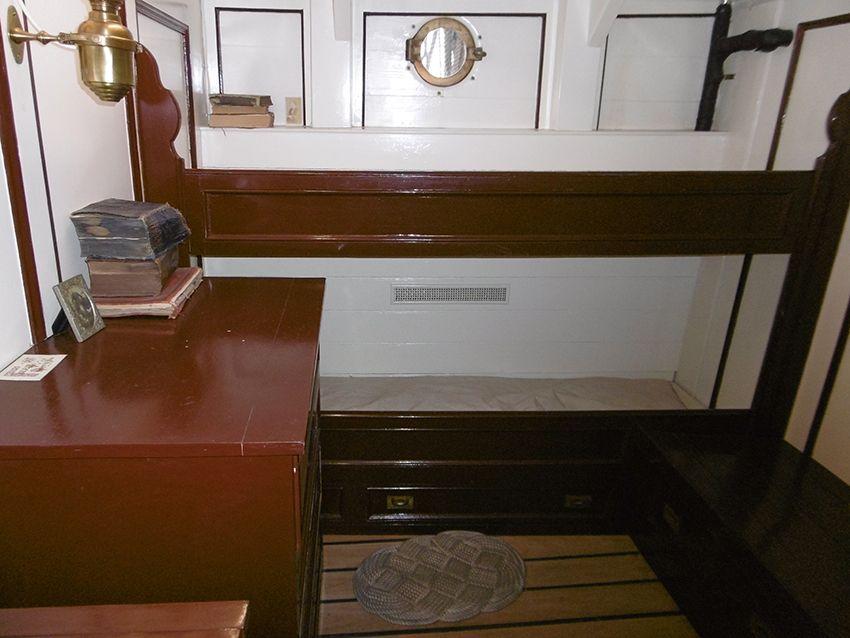Cabine intérieure dans le Cutty Sark.