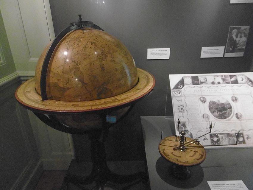 Mappemonde céleste dans l'observatoire de Greenwich.