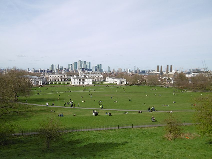 Vue sur Londres depuis Greenwich.