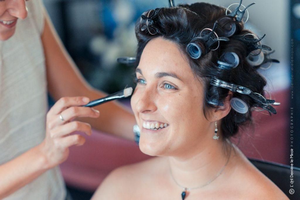 Maquillage mariée par Sabine beauté.