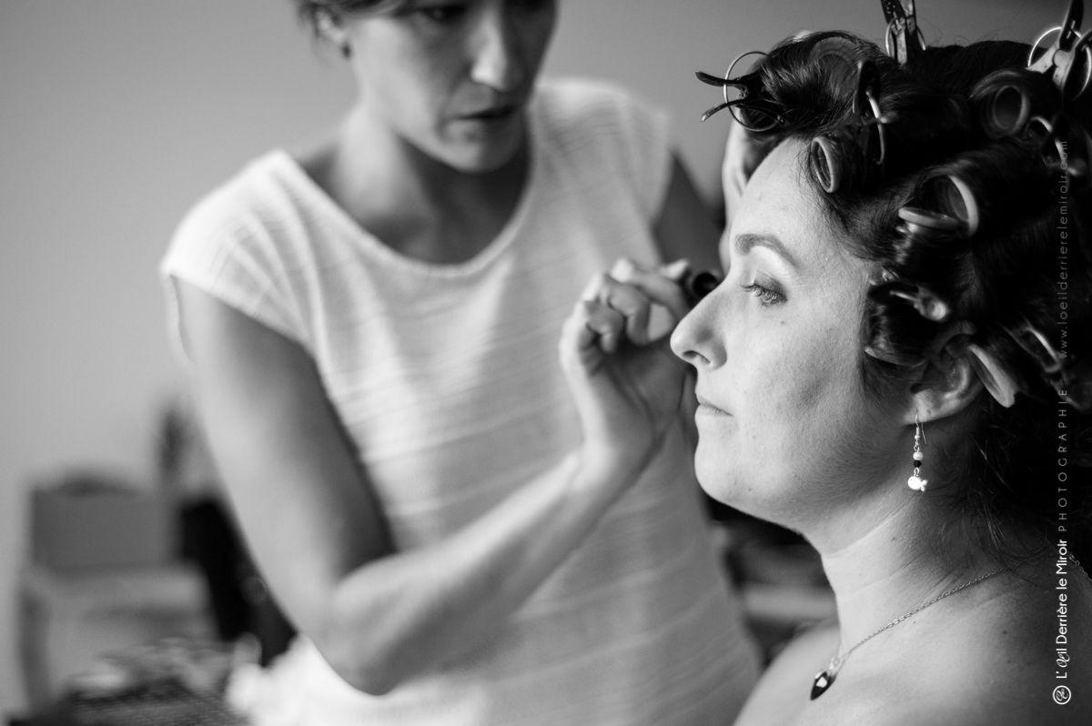 Maquillage mariée par Sabine beauté Antibes.