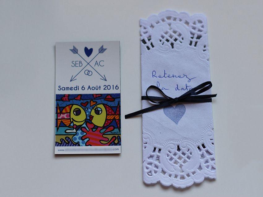 """Papeterie : nos aimants magnet de mariage, façon """"save the date""""."""