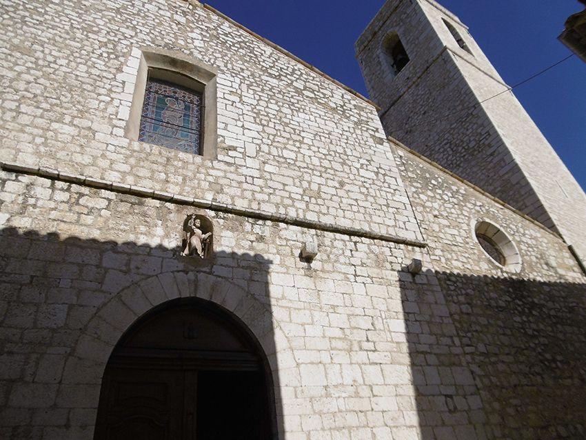 Eglise collégiale du village de Saint-Paul de Vence.