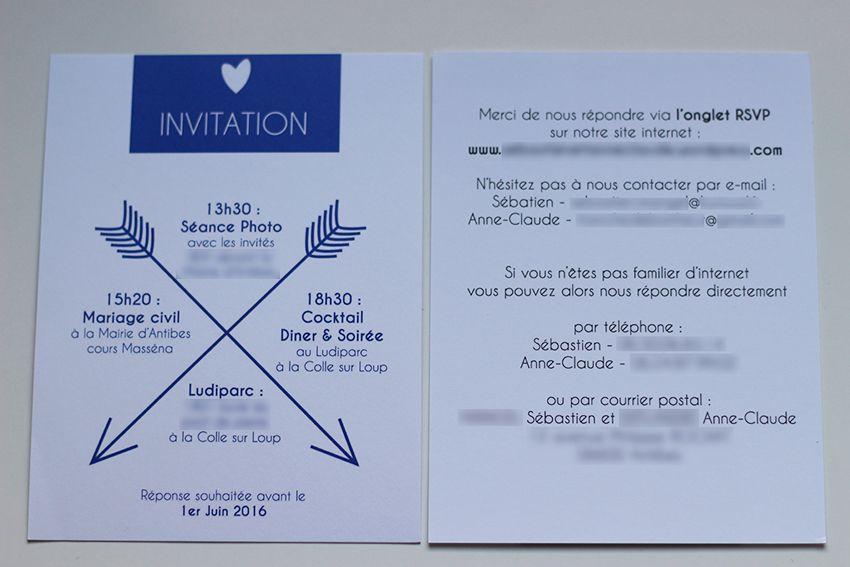 Papeterie : nos invitations de mariage.