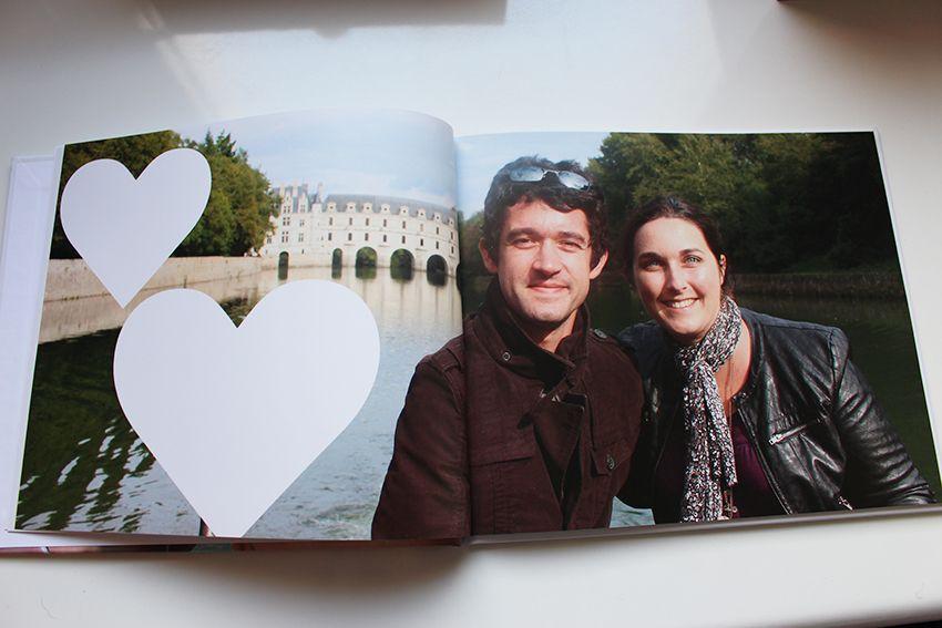 Papeterie de mariage : notre livre d'or façon livre photo.