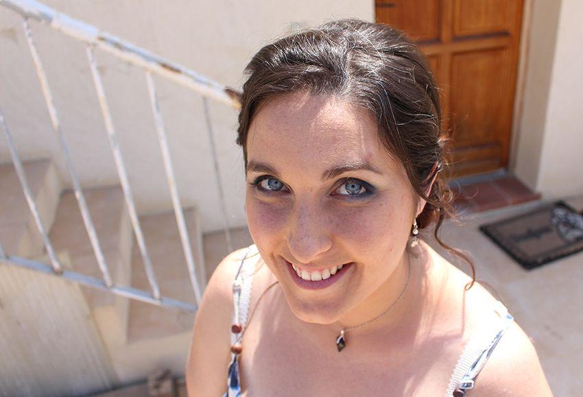 Mon essai maquillage de mariage par Sabine beauté à Antibes.
