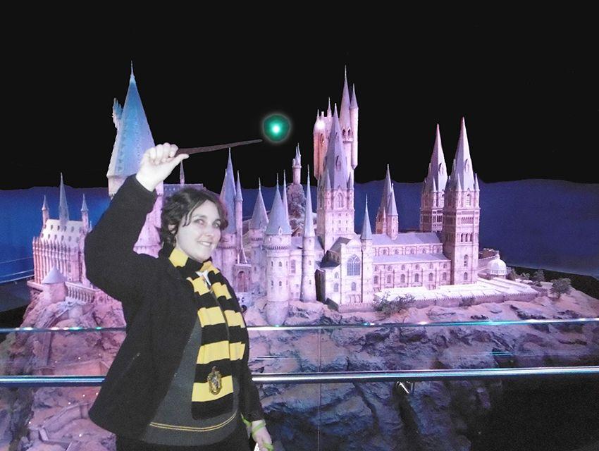 Cours de magie à Poudlard durant notre visite du studio Harry Potter de Londres.