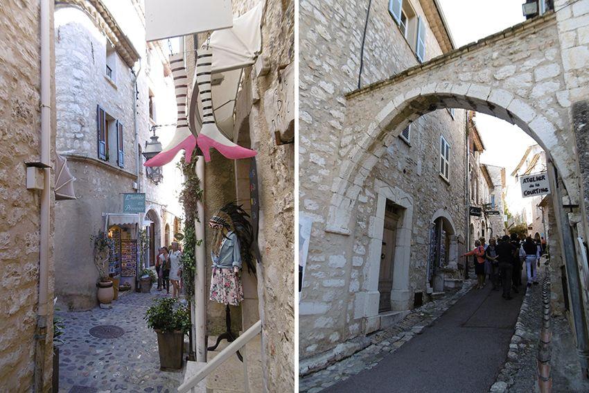 Ruelles du village de Saint-Paul de Vence.