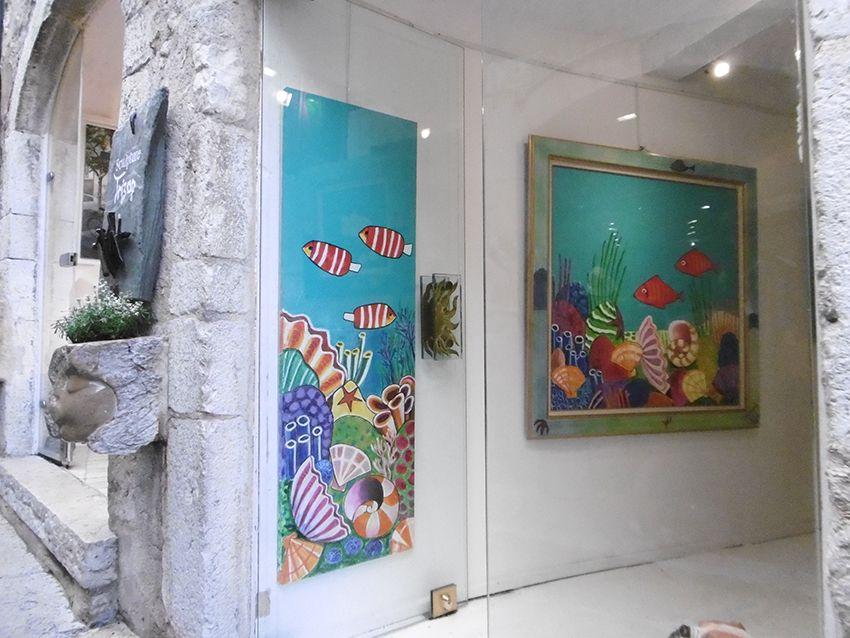 Galerie d'art dans le village de Saint-Paul de Vence.