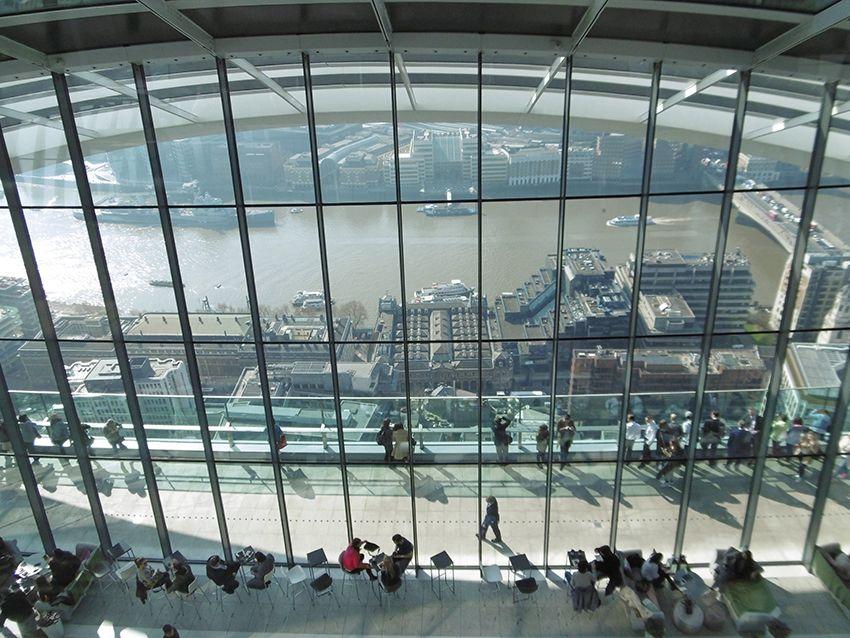 Vue panoramique sur Londres depuis le Sky Garden.