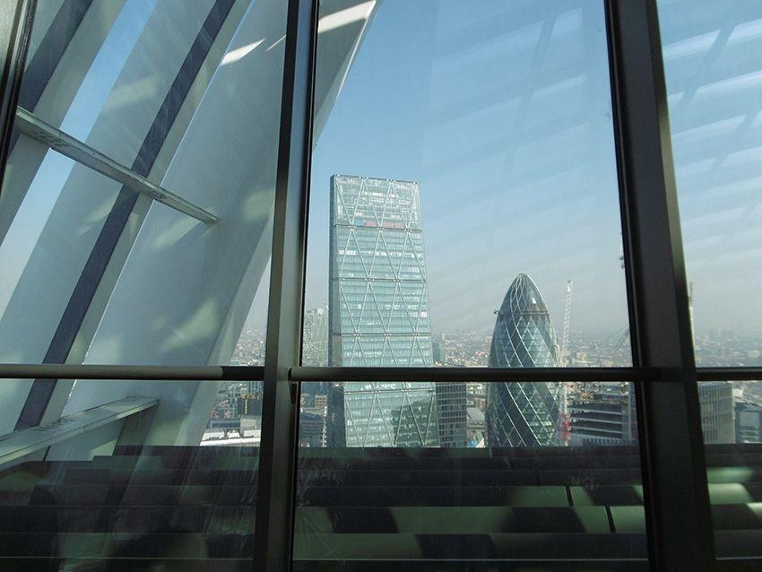 Le gherkin depuis le Sky Garden à Londres.