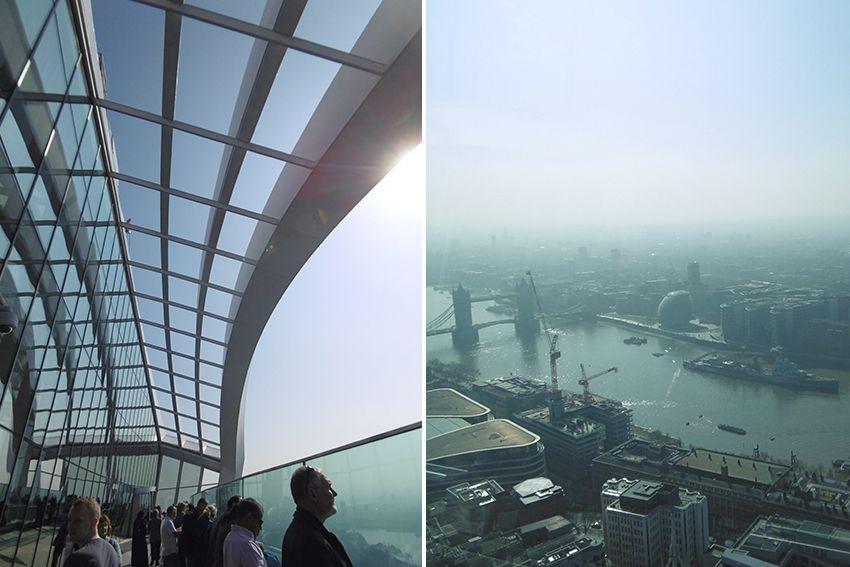 Panorama depuis la terrasse du Sky Garden à Londres.