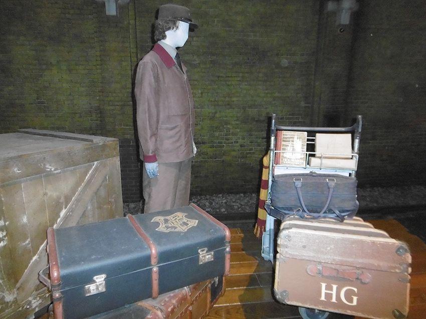 Bagage Hermione Poudlard express au Studio Harry Potter de Londres.