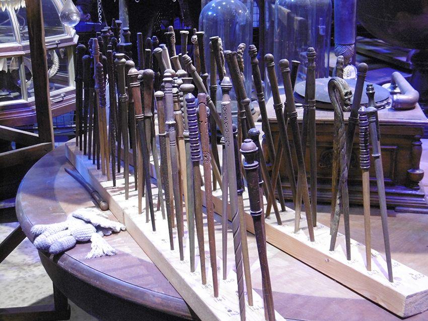 Baguettes magiques au Studio Harry Potter de Londres.