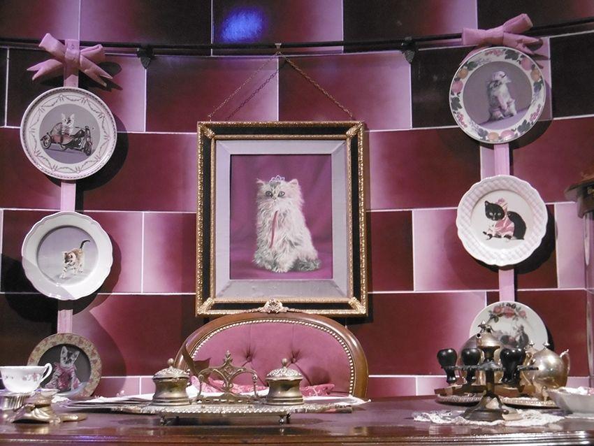 Bureau d'Ombrage au Studio Harry Potter de Londres.