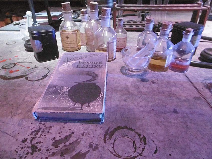 Bureau salle des potions au Studio Harry Potter de Londres.