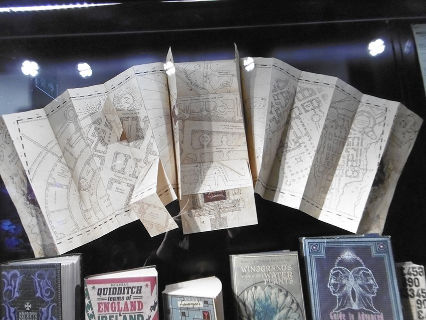 Carte du Maraudeur au Studio Harry Potter de Londres.