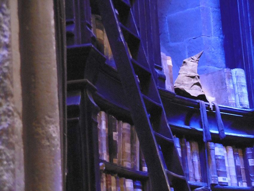 Le choixpeau magique au Studio Harry Potter de Londres.