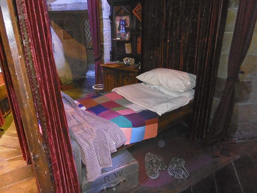 Dortoir des Gryffondor au Studio Harry Potter de Londres.