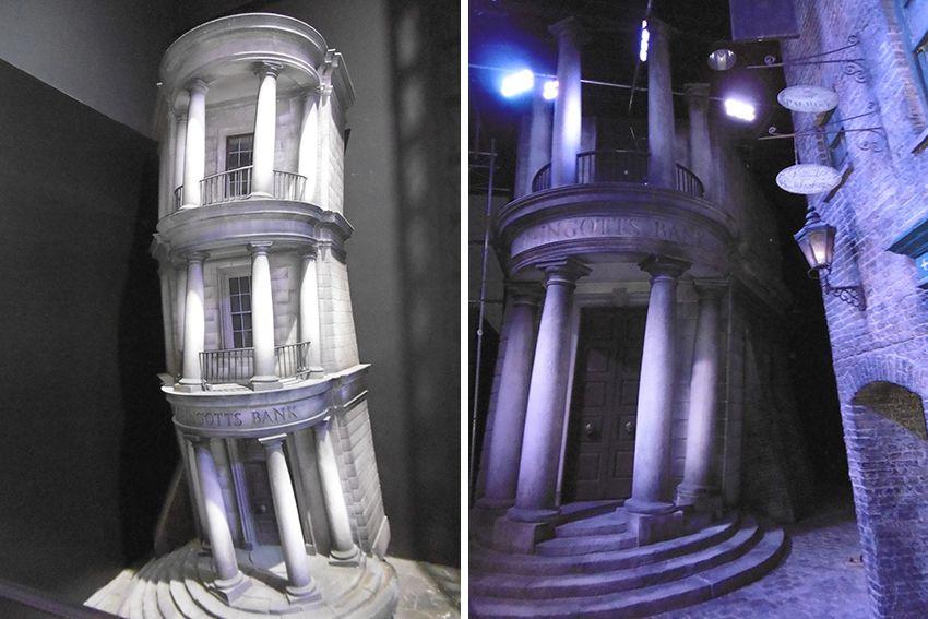 La banque de Gringotts au Studio Harry Potter de Londres.