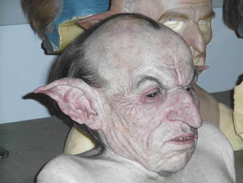 Gripsec le gobelin au Studio Harry Potter de Londres.