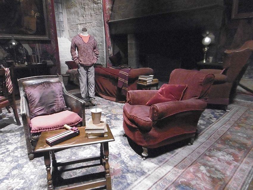 Salon des Griffondor au Studio Harry Potter de Londres.