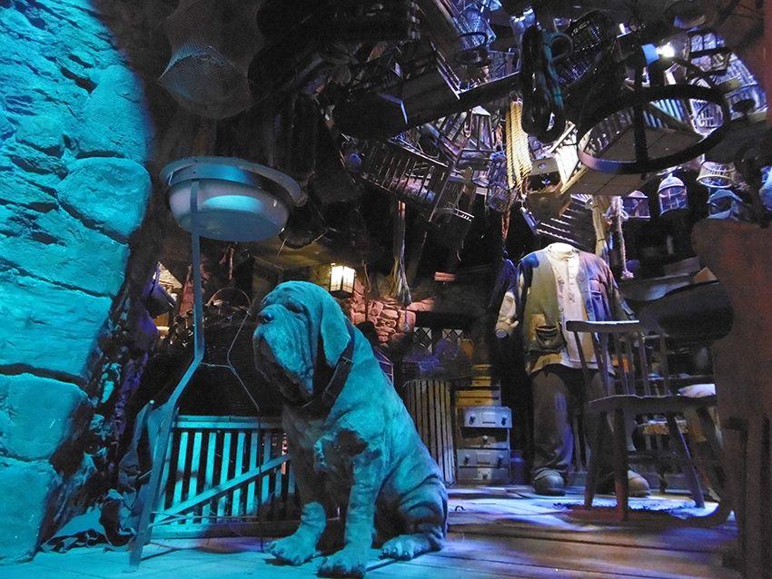 Hutte de Hagrid et Crockdur au Studio Harry Potter de Londres.