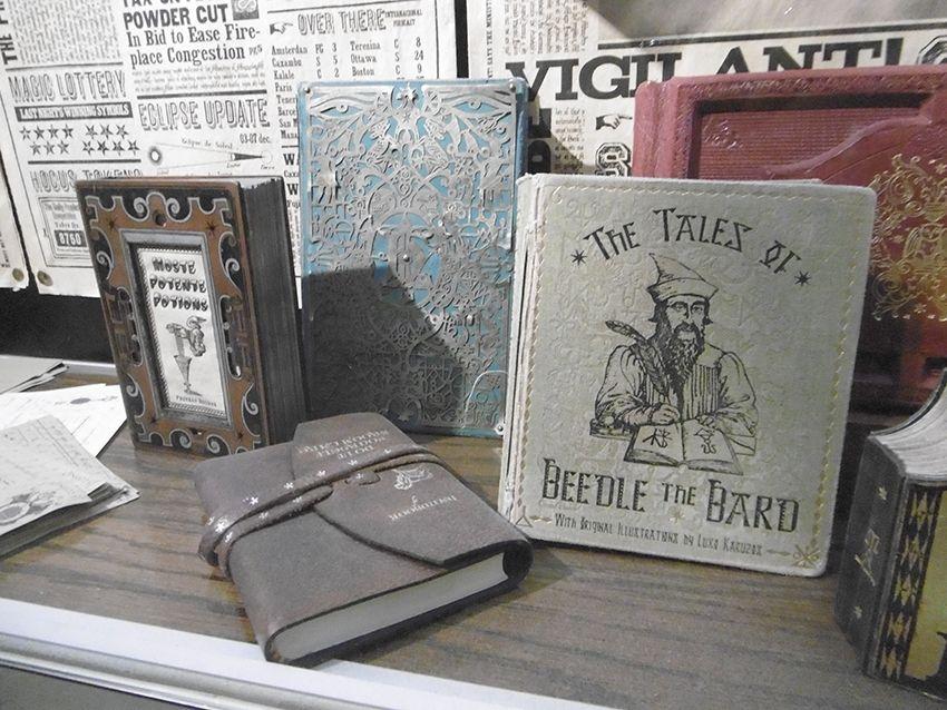 Livres et contes de Beedle le Barde au Studio Harry Potter de Londres.