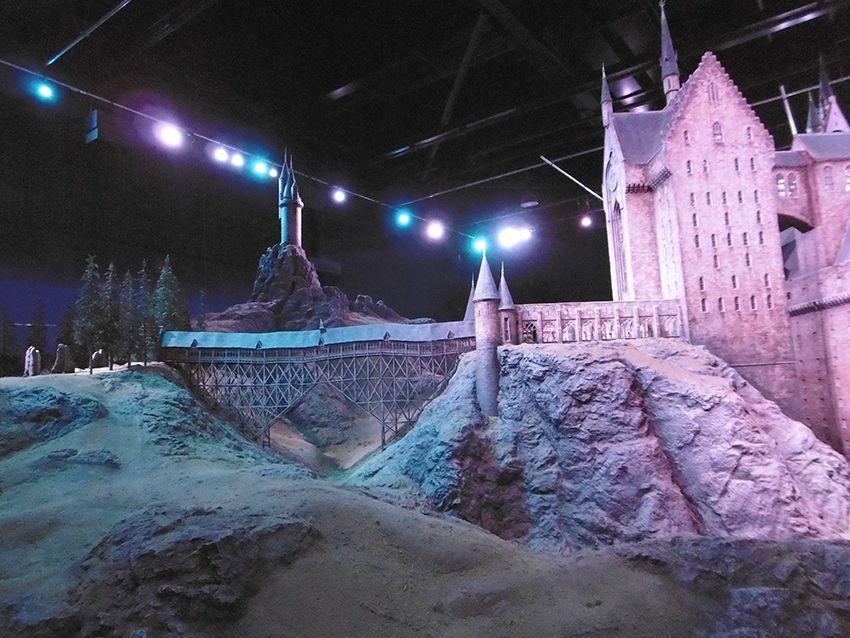 Maquette géante du château de Poudlard au Studio Harry Potter de Londres.