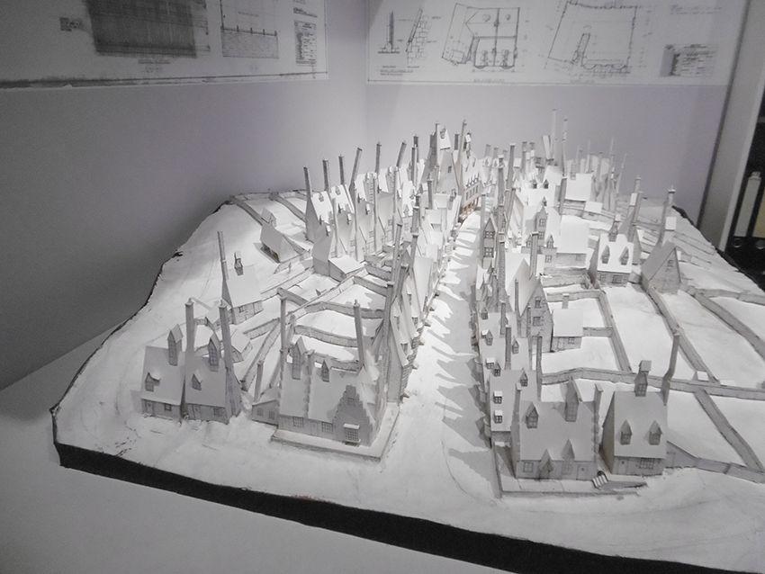 Maquette du village de Pré-au-Lard au Studio Harry Potter de Londres.