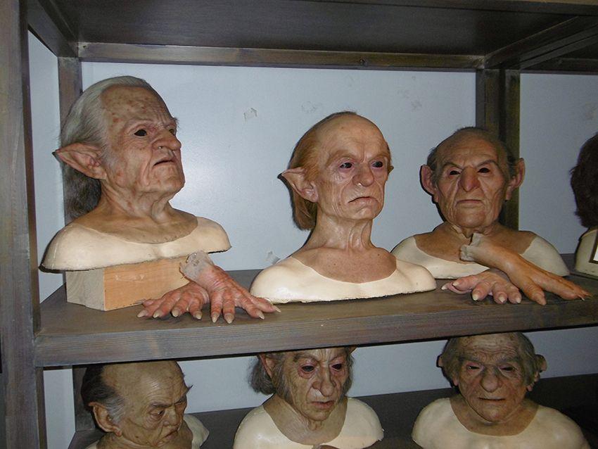 Masques de gobelins au Studio Harry Potter de Londres.