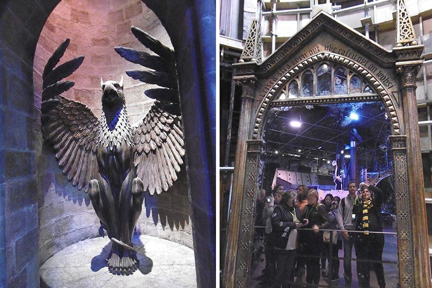 Miroir du Rised au Studio Harry Potter de Londres.
