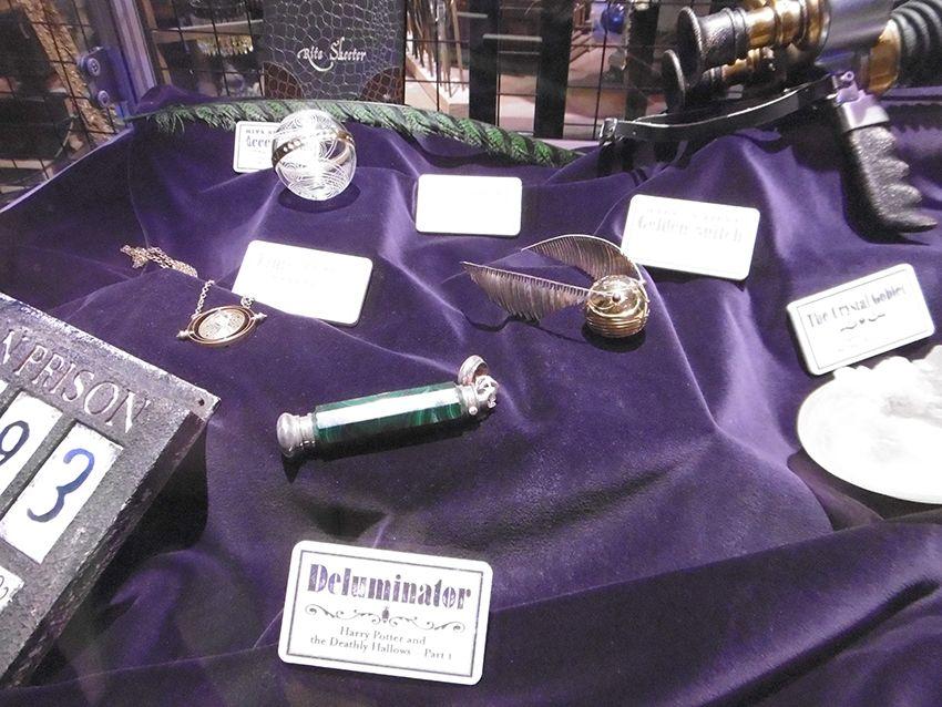 Objets magiques au Studio Harry Potter de Londres.