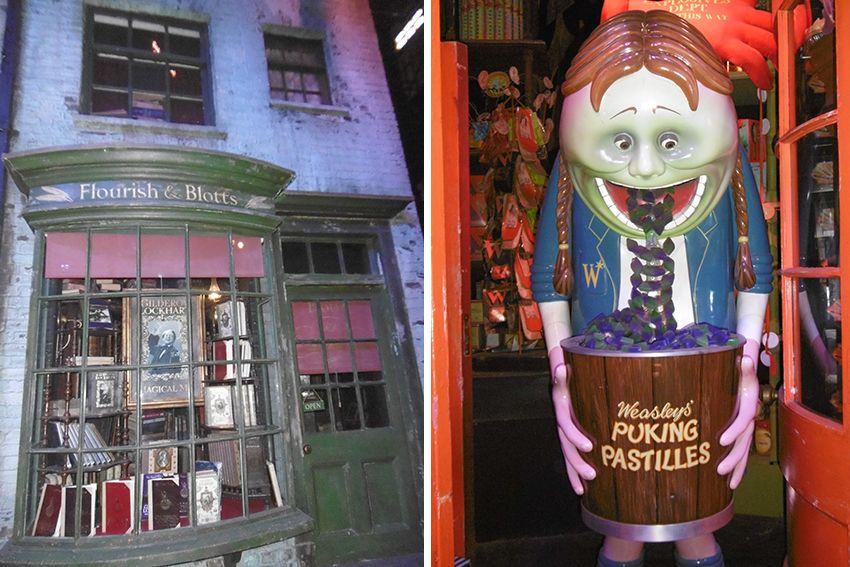 Pastilles de gerbe au Studio Harry Potter de Londres.