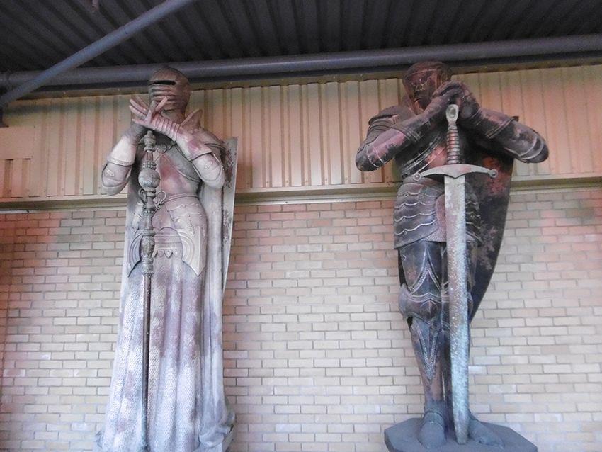 Pièces géantes de l'échiquier version sorciers au Studio Harry Potter de Londres.