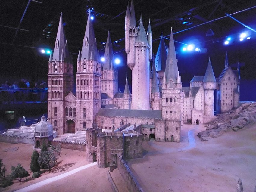 Poudlard en maquette géante au Studio Harry Potter de Londres.